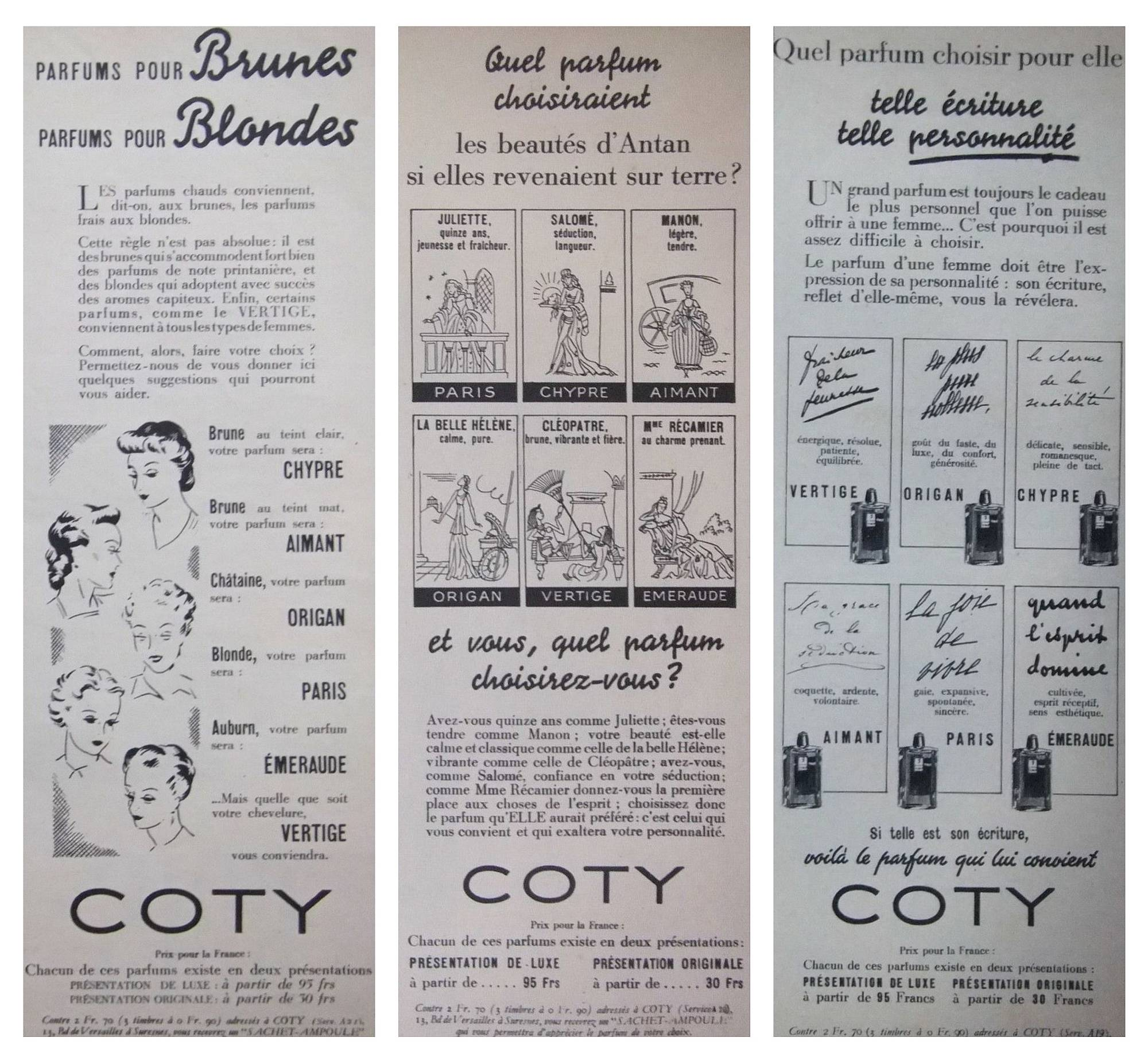 Coty posters 1930s